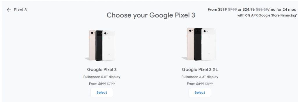 200 دولار خصم على سعر هاتف بيكسل 3 في متجر جوجل 1